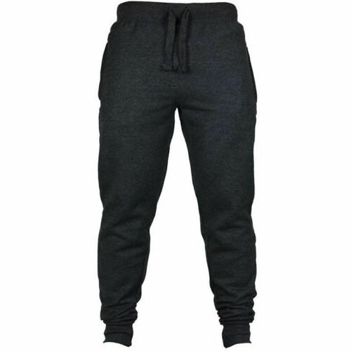 Mens Slim Sport Gym Skinny Joggers US