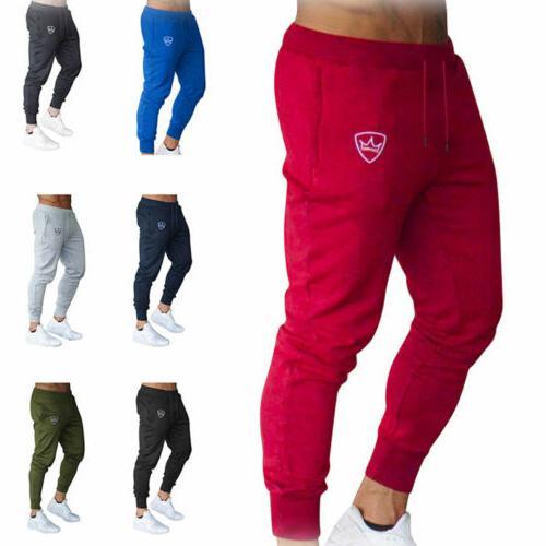 Mens Tracksuit Sport Skinny Joggers Trousers