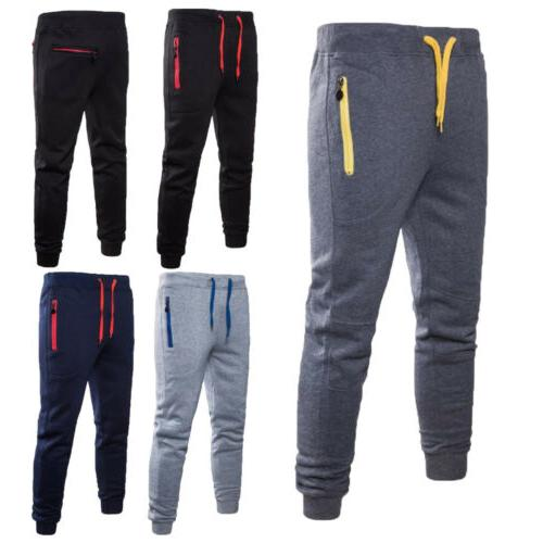 Mens Trousers Gym Workout Joggers Sweatpants