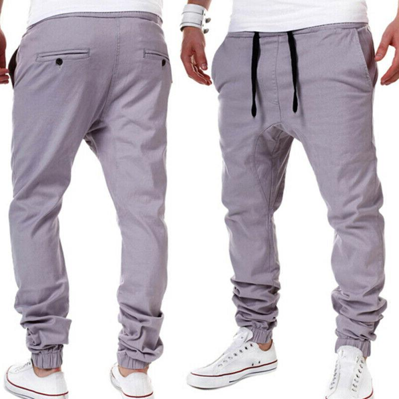 Mens Pants Trousers Tracksuit Gym Workout Sweatpants