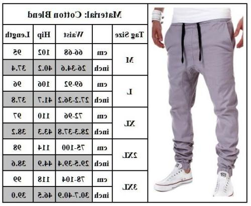Mens Sport Pants Long Trousers Tracksuit Workout Joggers Sweatpants
