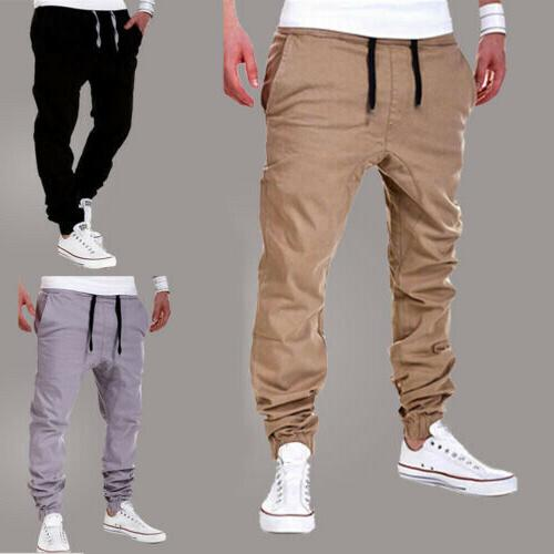 mens sport pants long trousers tracksuit gym