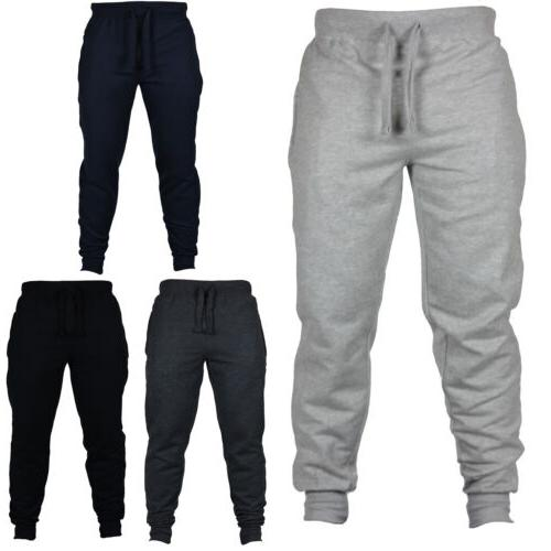 Mens Slim Fit Pants Sport Gym