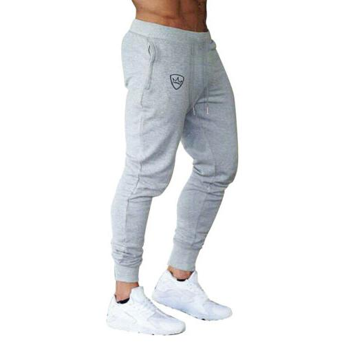 Mens Sport Slim Fit Skinny Joggers Sweat Pants US