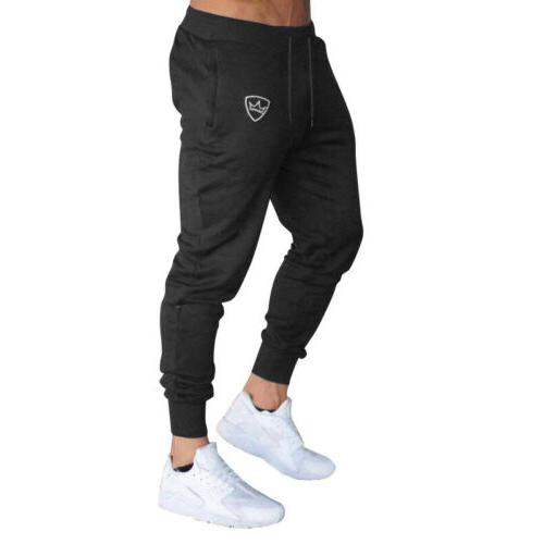 Mens Sport Slim Skinny Joggers Sweat Pants Trousers US