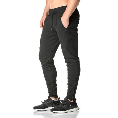 mens zip gym joggers sweatpants tracksuit jogging