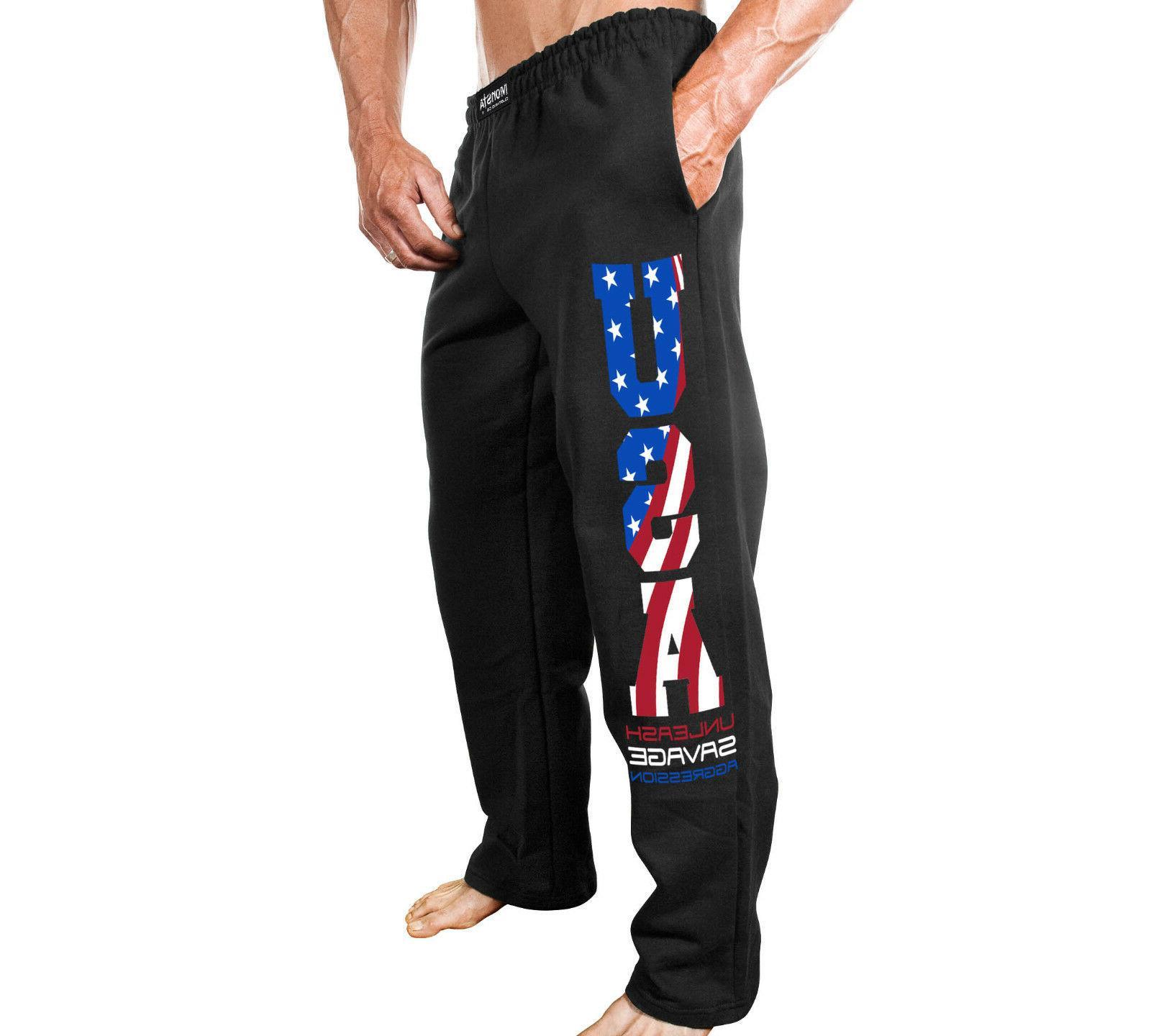 new men s fitness gym sweatpants usa