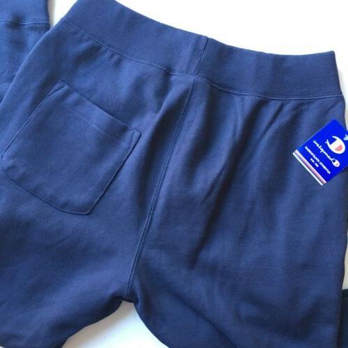 NEW Reverse Weave Sweatpants Big Logo Mens Size Blue