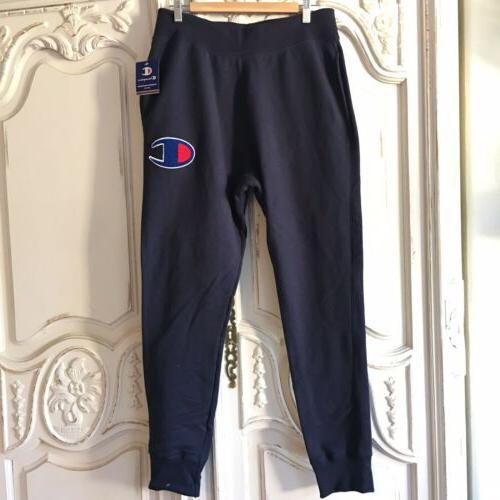 NEW Champion Reverse Sweatpants Chenille Big Blue