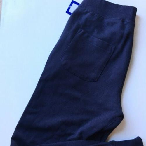 NEW Champion Sweatpants Chenille Big Logo Mens Blue