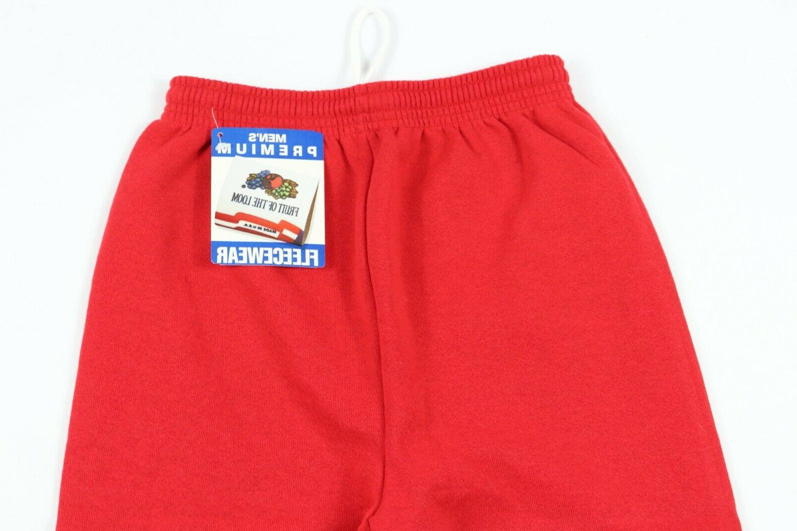 New Vtg 90s of the Mens Small Fleecewear Sweatpants Red