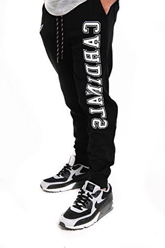 NFL Men's Jogger Pants Fleece Black