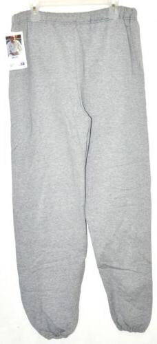 Russell Athletic NuBlend Closed Bottom Sweatpants Gray Sz XL