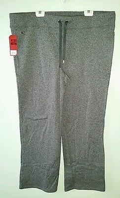 NWT $54 Fila Women's 2X Pants ATHLETIC Lounge WORKOUT Gray S