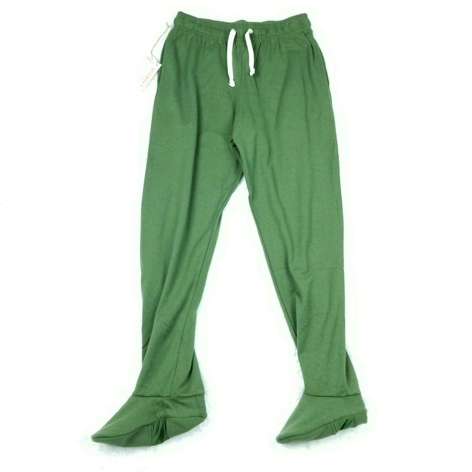 nwt footed drawstring sweatpants adult medium m