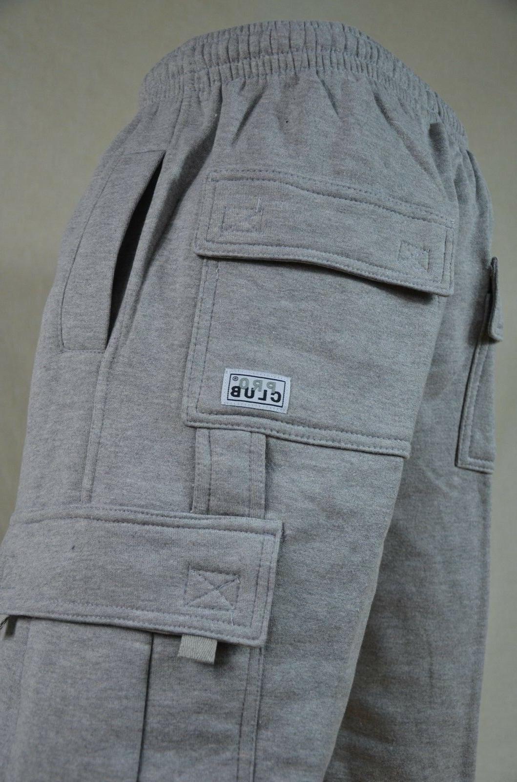 NWT Pro Club Weight Fleece Cargo Mens Sweatpants