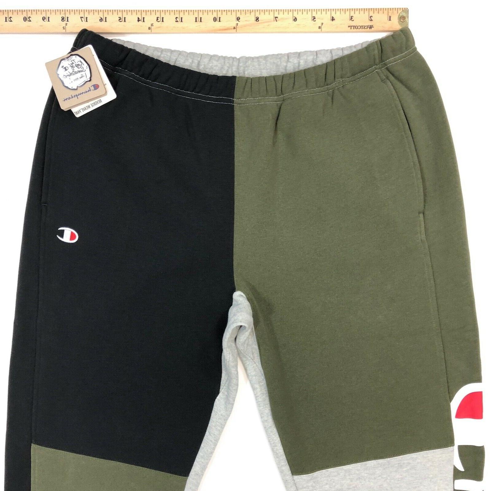 Weave Color Block Jogger Sweatpants Mens XL