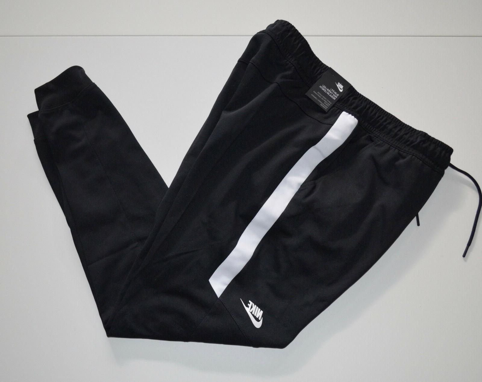 NWT Men's NIKE Sweatpants, Jogger, Black/White, Slim Fit, Ta