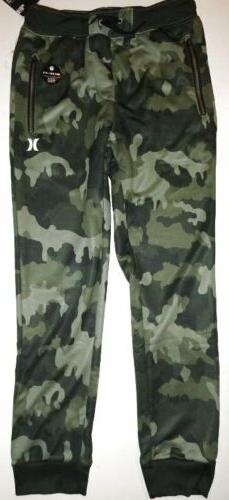 NWT Hurley Nike Dri-Fit Large Green Camo Joggers Sweatpants