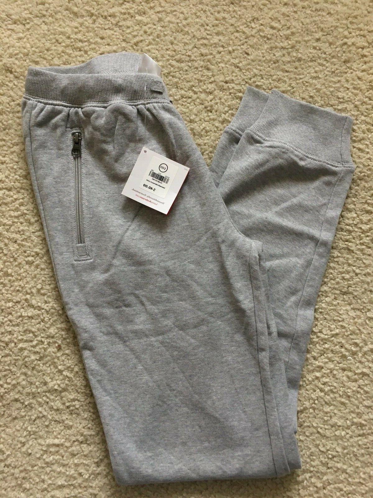 nwt slim sweatpants in terry grey 160
