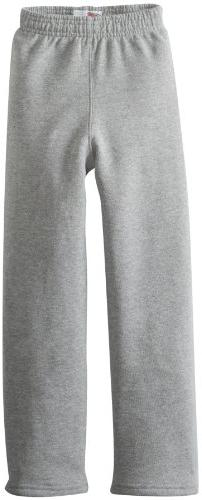 Soffe Big Boys' Open Bottom Heavy Weight Sweatpant, Black, M