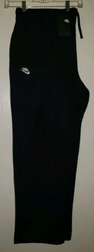 Nike Open Hem Fleece Sweatpants Mens 804395-063 Standard Str