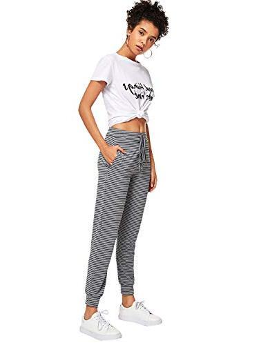 SweatyRocks Pants Jogger Striped S