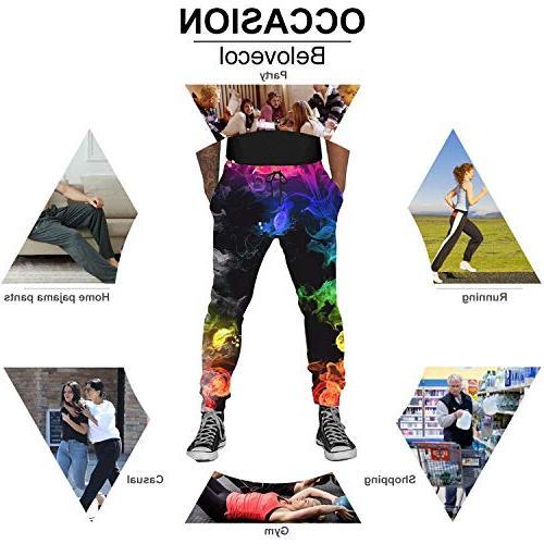 Belovecol 3D Printed Flamingo Active for Junior Teens Jogging Pants Soft Trousers