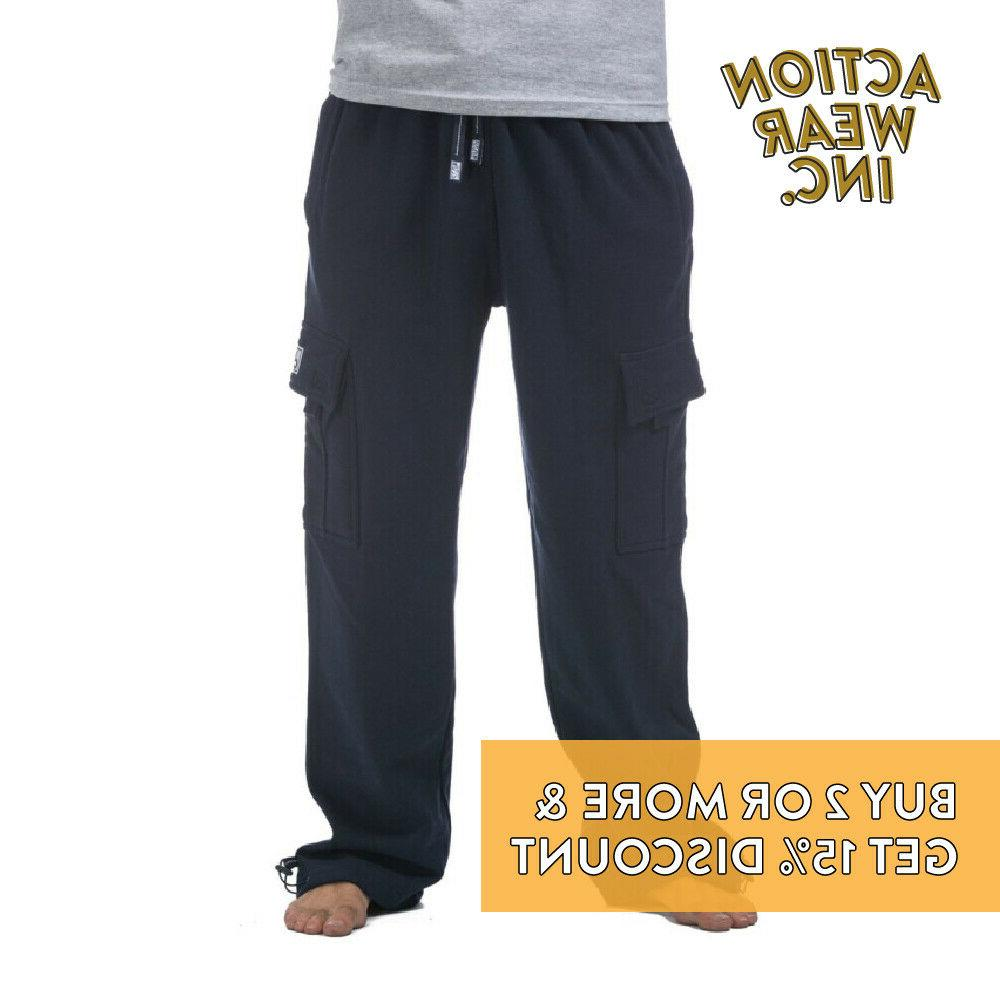 PROCLUB CLUB MENS PLAIN POCKET CASUAL SWEATPANTS ACTIVE PANTS