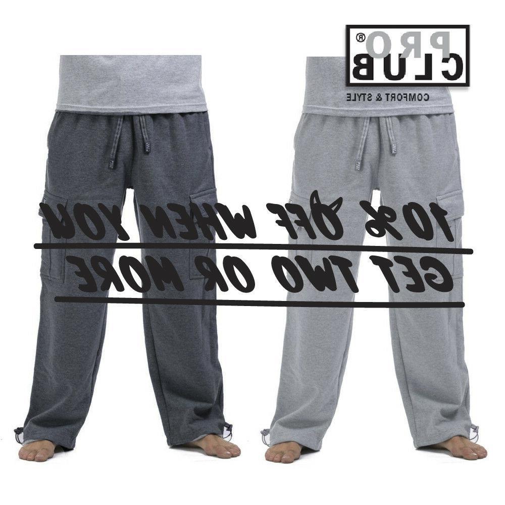 proclub men heavyweight cargo sweatpants harem pants