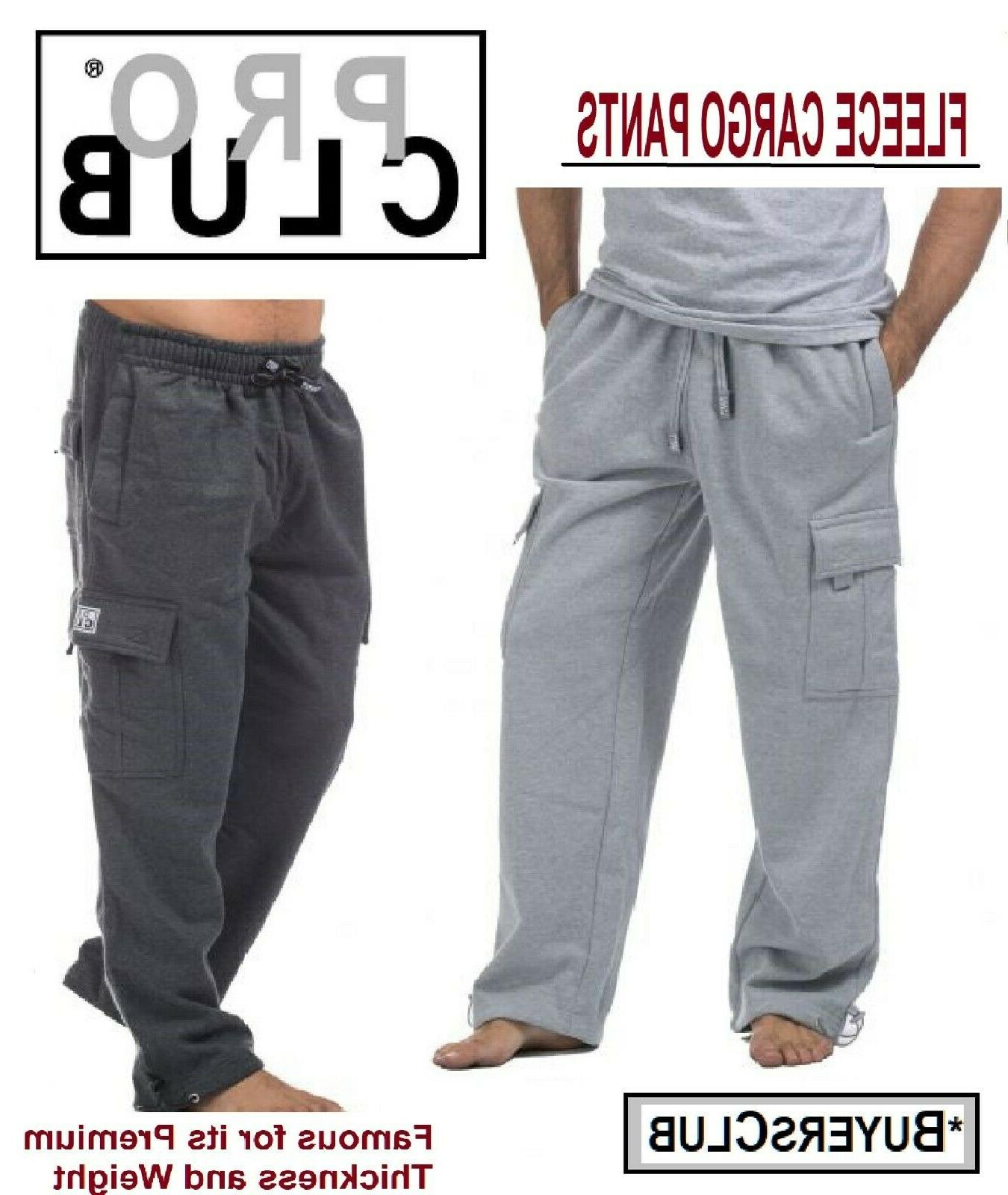 proclub men s heavyweight cargo pants sweatpants