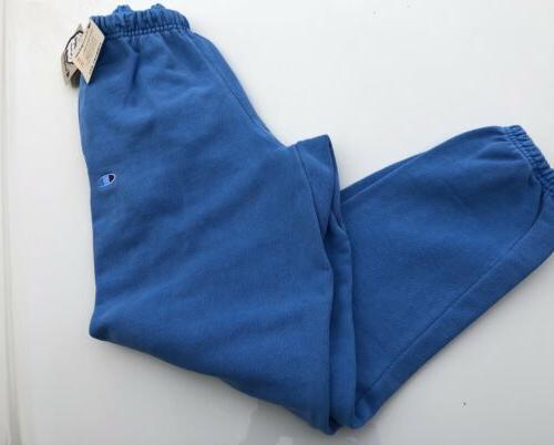 reverse weave pigment dye jogger sweatpants blue