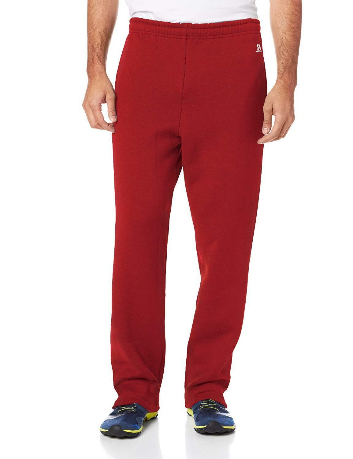 Russell Men's Dri-Power Open Sweatpants Pockets