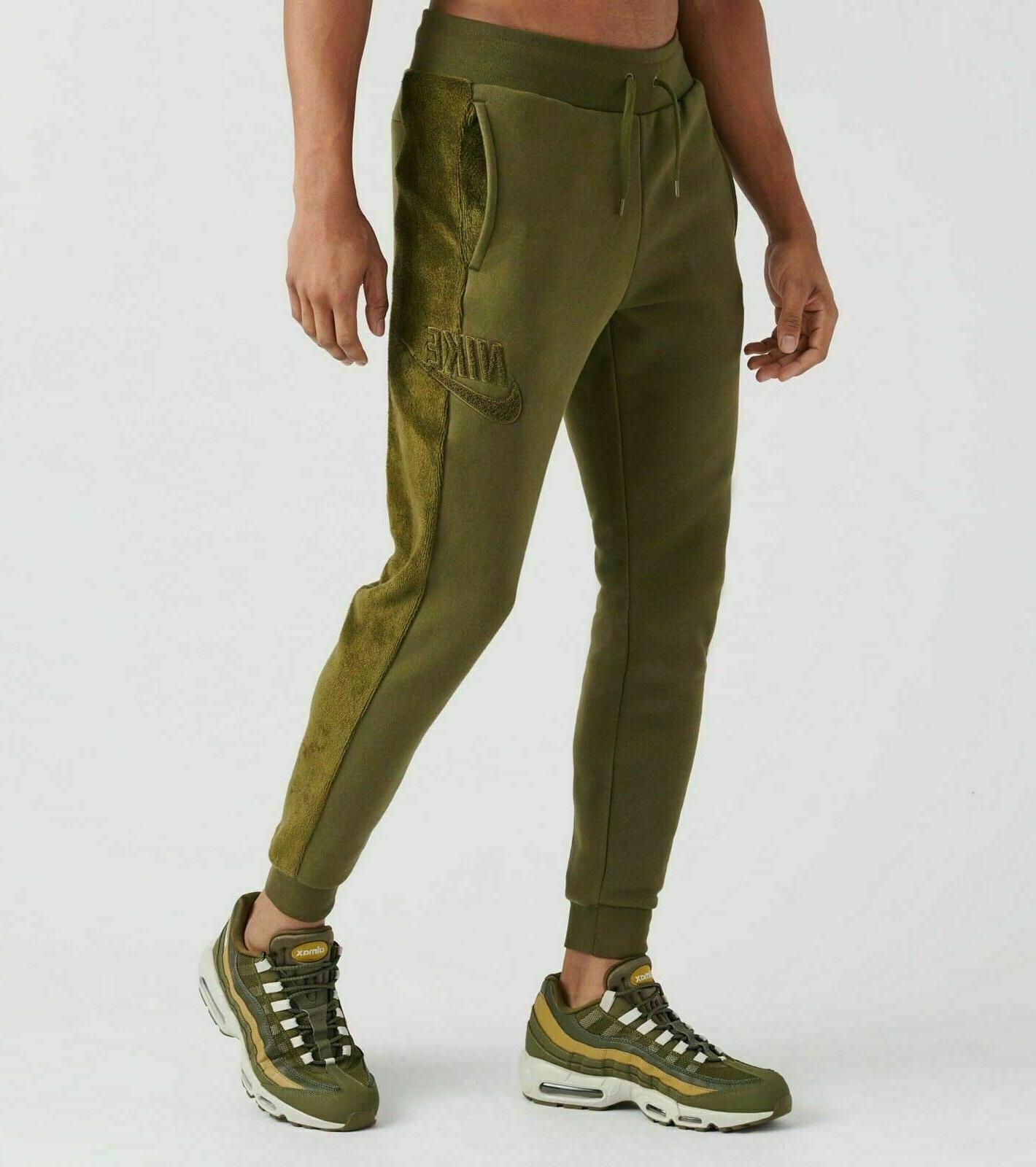 sherpa winter jogger sweatpants green 929130 395