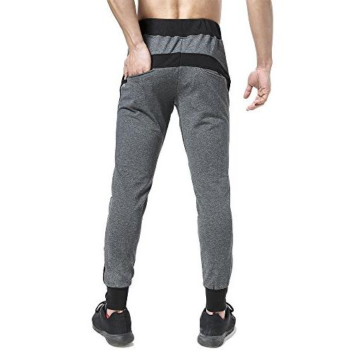BROKIG Side-MESH Joggers Workout Sweat Pants , Gray)