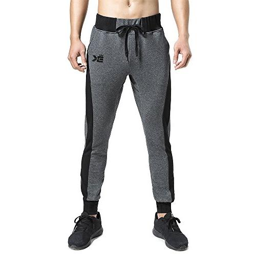 BROKIG Mens Joggers Workout Pants Gray)