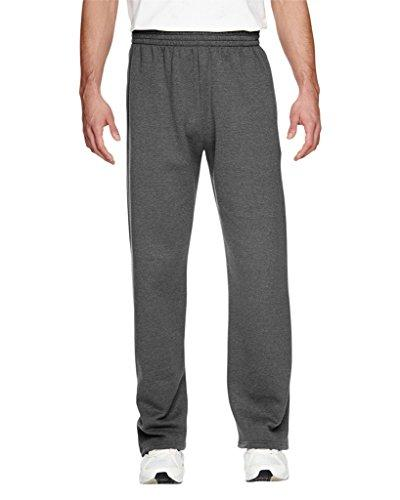 sofspun pocketed open bottom sweatpants charcoal heather