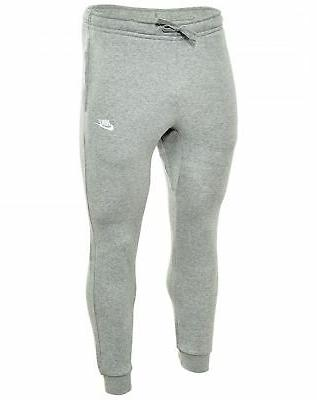 NIKE Mens Jogger Club Fleece Sweatpants Grey Heather/Dark Ob