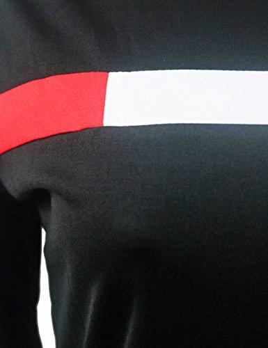 Stripe Long Sleeve Sweatshirt and Sweatpants Two for Junior Black