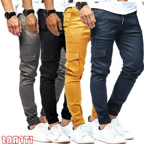 Summer Straight Pants Casual Multi-Pocket Sweatpants US