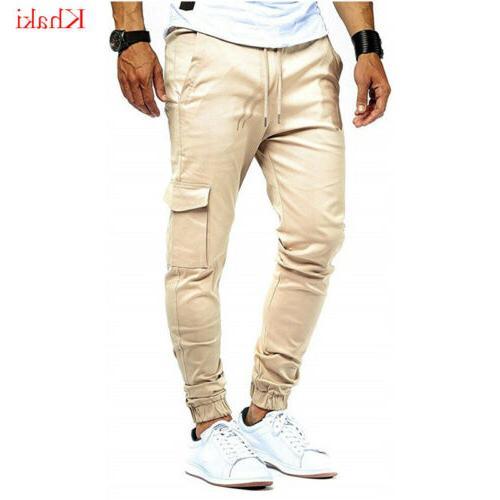 Summer Men's Stretch Pants Nine Multi-Pocket