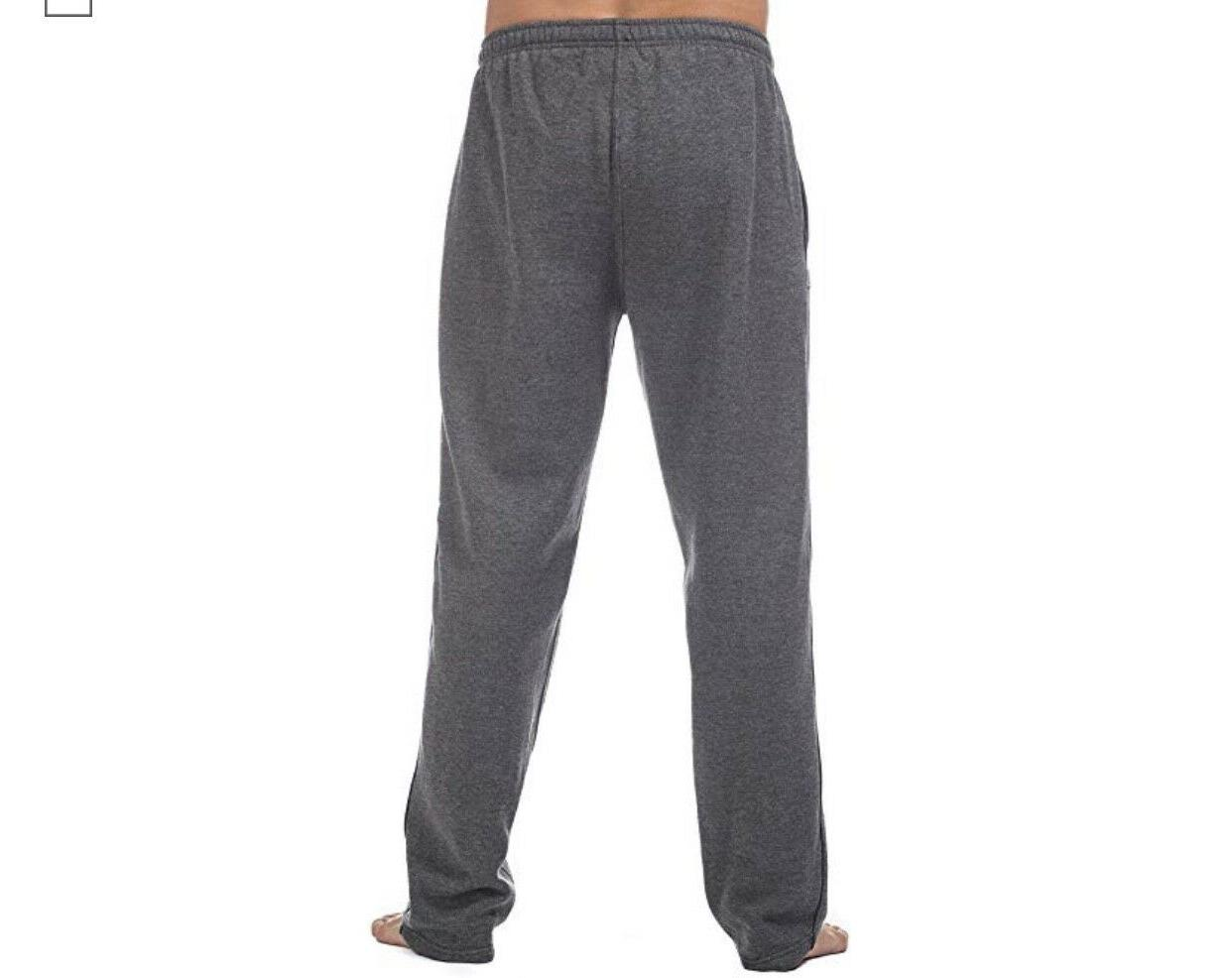 PRO SWEAT JOGGERS COMFORT MEN'S FLEECE PANT OPEN S-7XL