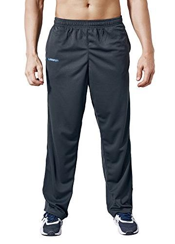 Pockets Open Bottom Athletic Pants Workout, Gym, Running,