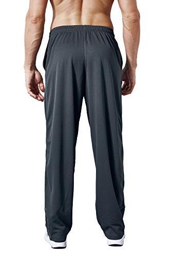 LUWELL Men's Sweatpants Pockets Open Pants Running,