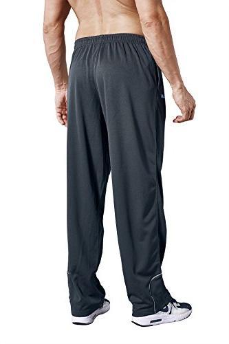 LUWELL Pockets Open Bottom Pants Workout, Gym, Running,