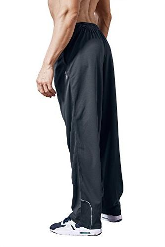 LUWELL PRO Pockets Open Athletic Pants Jogging, Running,