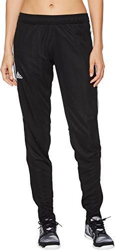 adidas Women's Tiro17 TRG Pant, Black/Silver, Small