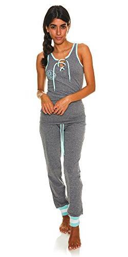 U.S. Polo Assn. Womens 2 Piece T-Shirt Lounge Pants Pajama S