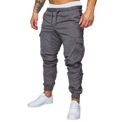 US Fashion Men Sports Pants Long Sweatpants Casual