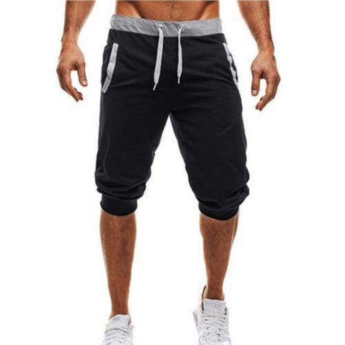 US Men Sport 3/4 Pants Slack Sweatpant Jogger Shorts Trousers